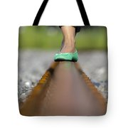 Balance With Her Feet Tote Bag