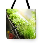 Balcony Herb Garden Tote Bag