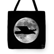 Bald Eagle Moon Tote Bag
