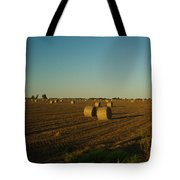 Bales In Peanut Field 13 Tote Bag