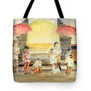Balinese Children In Traditional Clothing Tote Bag