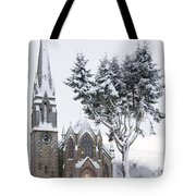Ballater Church In Snow Tote Bag
