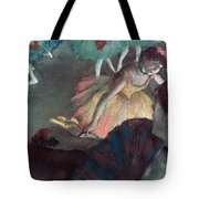 Ballerina And Lady With A Fan Tote Bag