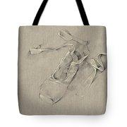 Ballerina's Slippers Tote Bag