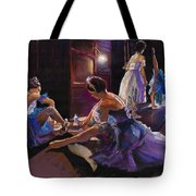 Ballet Behind The Scenes Tote Bag