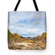 Ballintoy Bay Basalt Rock Tote Bag