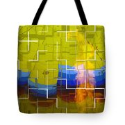 Balloon Cubed Tote Bag