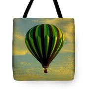 Balloon Ride Through Gold Clouds Tote Bag