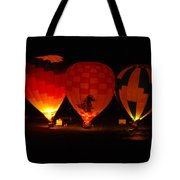 Balloons At Night Tote Bag
