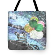 Balloons In The Park Tote Bag