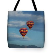 Balloons Over The Rockies Painterly Tote Bag
