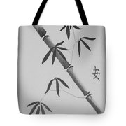 Bamboo Art In Black And White Tote Bag