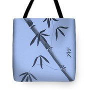 Bamboo Art In Cyan Tote Bag