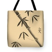 Bamboo Art In Sepia Tote Bag