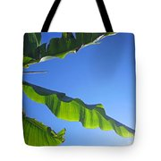 Banana Leaf In The Sky Tote Bag