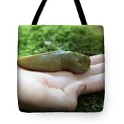 Banana Slug On Hand Tote Bag