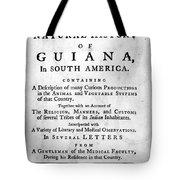 Bancroft: Title Page, 1769 Tote Bag