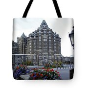 Banff Springs Hotel In The Canadian Rocky Mountains Tote Bag