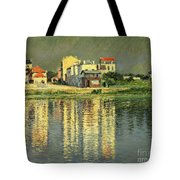 Banks Of The Seine At Argenteuil Tote Bag