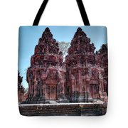 Banteay Srei Temple Central Towers  Tote Bag