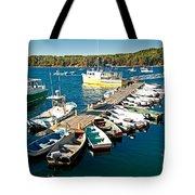 Bar Harbor Boat Dock Tote Bag