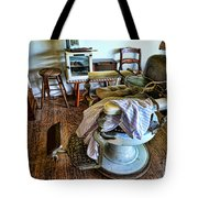 Barber Chair With Child Booster Seat Tote Bag by Paul Ward