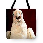 Bare Eyed Cockatoo Speaks Tote Bag