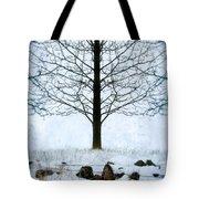 Bare Tree In Winter Tote Bag
