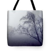 Bare Trees In Thick Fog, Peak District Tote Bag