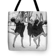 Barefoot Dance In The Snow Tote Bag