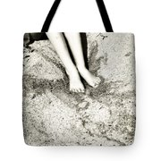 Barefoot In The Sand Tote Bag