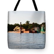 Barge In Naples Bay Tote Bag