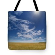 Barley Field Near Airdrie, Alberta Tote Bag