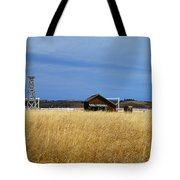 Barn And Windmill Stand Tote Bag