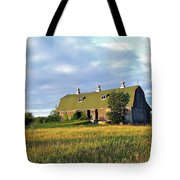 Barn In A Golden Field Tote Bag