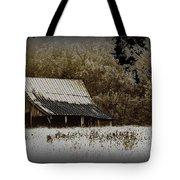 Barn In The Field Tote Bag