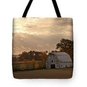 Barn In Warming Storm Tote Bag by Randall Branham