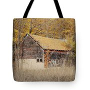 Barn With Autumn Leaves Tote Bag