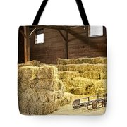 Barn With Hay Bales Tote Bag