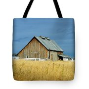 Barn With Stormy Skies Tote Bag
