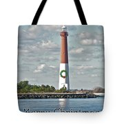 Barnegat Lighthouse - New Jersey - Christmas Card Tote Bag