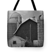 Barns And Silos Black And White Tote Bag