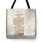 Barque And Tug Tote Bag
