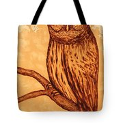 Barred Owl Coffee Painting Tote Bag