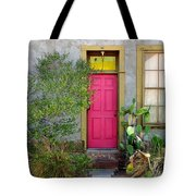 Barrio Door Pink And Gray Tote Bag