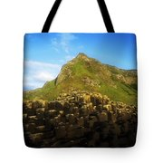 Basalt Rock Formations Near A Mountain Tote Bag