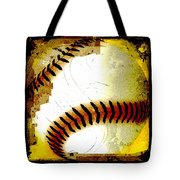Baseball Abstract Tote Bag