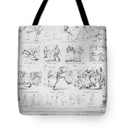 Baseball Cartoons, 1859 Tote Bag