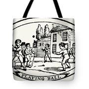 Baseball Game, 1820 Tote Bag