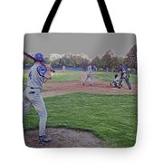 Baseball On Deck Digital Art Tote Bag